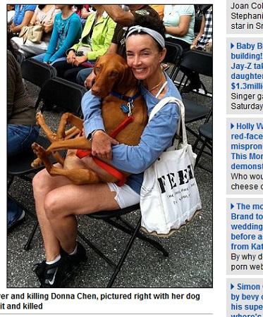 生前の飼い主さんと、救助された愛犬のバーニー