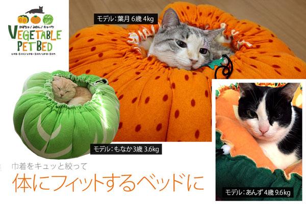 猫と犬の可愛いベジタブルベッド